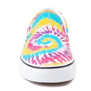 Unisex Vans Slip On Tie Dye Skate Shoe Multi color
